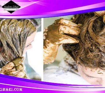 روش تهیه ماسک مو از حنا برای درمان شوره شدید مو