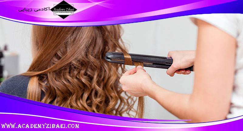 روش صحیح اتو کردن مو با کمک اتوی مو