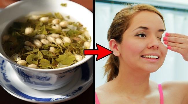 استفاده از چای سبز برای تقویت مژه