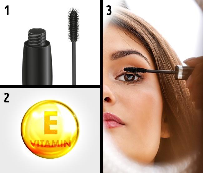استفاده از ویتامین E برای تقویت مژه