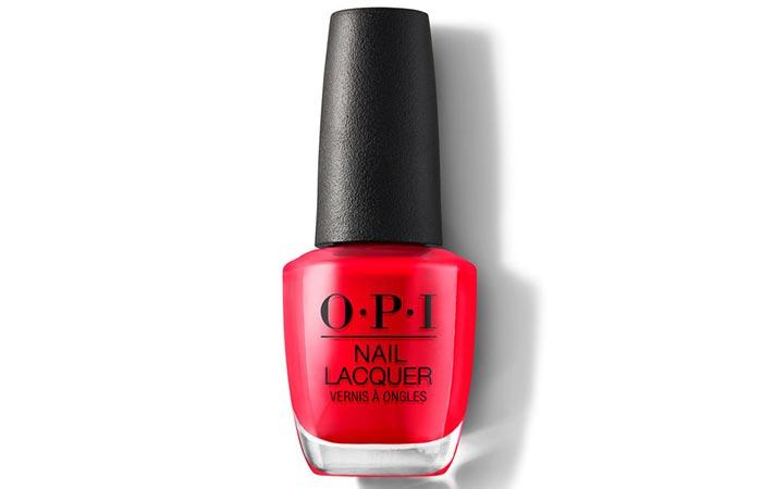 لاک ناخن قرمز رنگ O.P.I Nail Lacquer