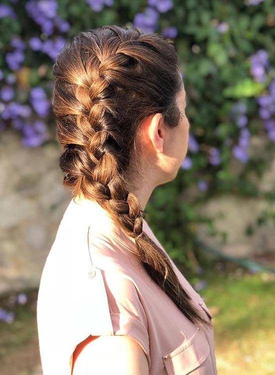 مدل بافت موی سجاف فرانسوی یک طرفه