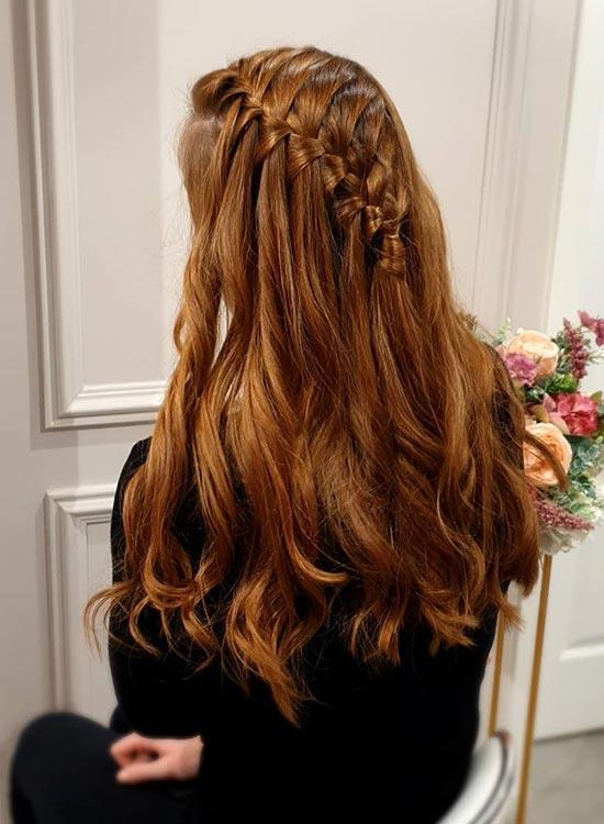 مدل بافت موی آبشار نواری